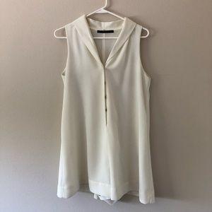 Zara White Jumpsuit